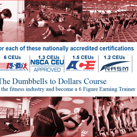 Dumbbells to Dollars (Recertification CEU Credit Course) – Only $29